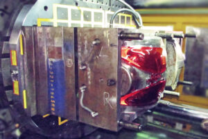 plastic injection mold workholding for automotive headlight covers