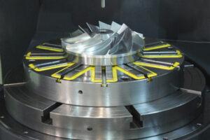 circular workholding magnet cnc machining turbine